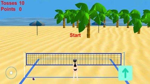 沙滩排球比赛